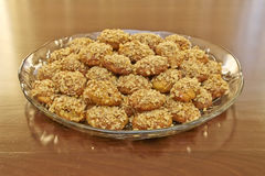 Melomacarona, gourmet Greek Christmas cookies Stock Image