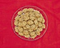 Melomacarona, gourmet Greek Christmas cookies Stock Photos