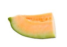 Melonów plasterki odizolowywający Obraz Stock