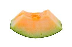 Melonów plasterki odizolowywający Obrazy Royalty Free