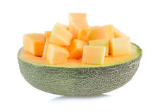 Melonów plasterki odizolowywający Zdjęcie Stock