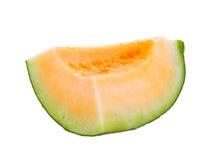 Melonów plasterki odizolowywający Fotografia Royalty Free