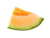 Melonów plasterki odizolowywający Zdjęcia Stock