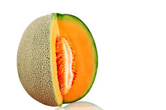 Melon ​​on white background. Royalty Free Stock Images