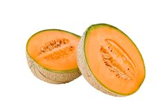 Melon. On the white background royalty free stock photo