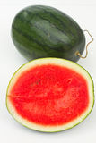 Melon. The Watermelon on white background royalty free stock images
