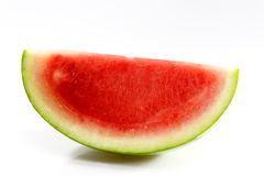 Melon. Slice of fresh watermelon on white background royalty free stock photo