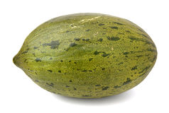 Melon. Seen whole melon horizontally with a white background Royalty Free Stock Images
