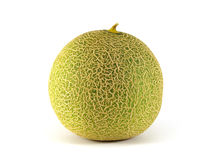 Melon. Green melon isolated on a white background Royalty Free Stock Photo