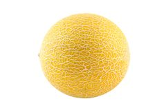 Melon. A melon isolated (with clipping path Royalty Free Stock Photography