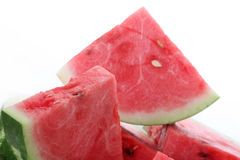 Melon. A fresh watermelon on a withe background Stock Photos