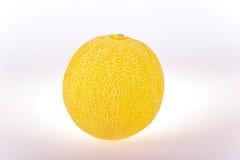 Melon. Ripe mellow melon on a white background Royalty Free Stock Photos