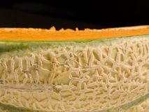 Melon. Close-up of a cut melon Stock Photos
