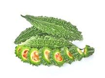 Melon amer, courge amère sur le fond blanc Photo stock