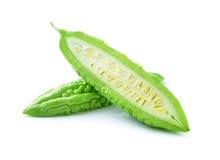 Melon amer sur le fond blanc Photo libre de droits