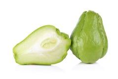 Melon amer thaïlandais sur le fond blanc Image libre de droits