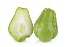 Melon amer thaïlandais sur le fond blanc Photo libre de droits