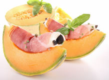 Melon And Cured Ham Stock Photo