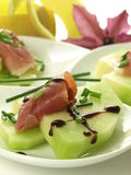 Melon appetizer Stock Image