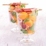 Melon appetizer Stock Image