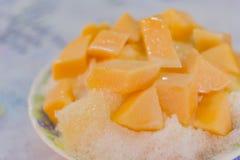 Melon avec de la glace rasée Photographie stock