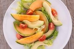 Melon and avocado salad Stock Photography