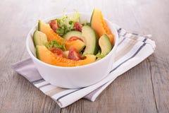 Melon and avocado salad Royalty Free Stock Photos