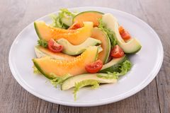 Melon,avocado and tomato Royalty Free Stock Photos