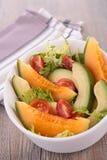 Melon,avocado and tomato Stock Image