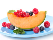 Melon and berries Royalty Free Stock Image