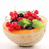 Melon and berries fruits Royalty Free Stock Photos