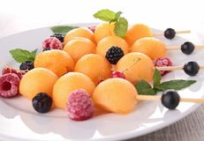 Melon and berries fruits Royalty Free Stock Photo