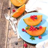 Melon and berries Royalty Free Stock Photos