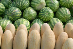 Melon and berry. A summer Stock Photos
