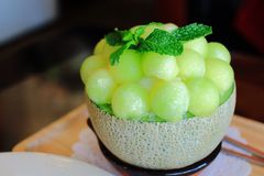 Melon bingsu Royalty Free Stock Photo
