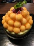 Melon bingsu royalty free stock photos