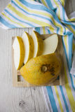 Melon on bright tablecloth Royalty Free Stock Images