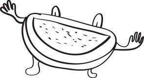 Melon cartoon sketch Stock Images