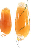 Melon and Champagne granitas Stock Photography