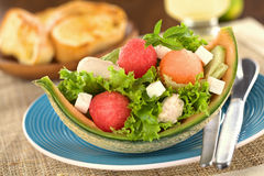 Melon and Chicken Salad Stock Photography