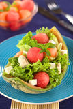 Melon and Chicken Salad Royalty Free Stock Image