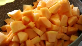 Melon chopped stock footage
