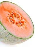 Melon closeup. On white background Stock Photos