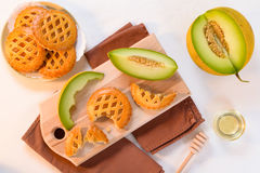 Melon cookies with honey Royalty Free Stock Image