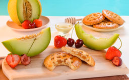 Melon cookies with honey Stock Image