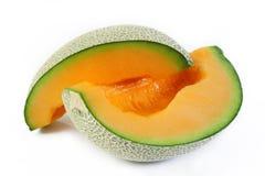 Melon coupé en tranches Images libres de droits