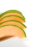 Melon coupé en tranches Photographie stock
