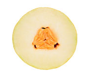 Melon cross section on white Stock Photo