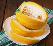 Melon cut into pieces Royalty Free Stock Photos