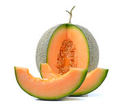 Melon d'isolement sur le fond blanc Photo stock